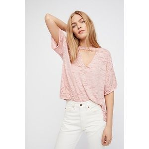 NWT WE THE FREE FREE PEOPLE MINK CUT OUT SHIRT XS